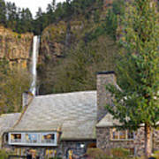 Historic Multnomah Falls Lodge Art Print