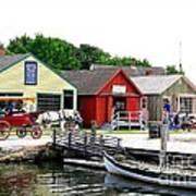 Historic Mystic Seaport Art Print