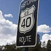 Historic Route Us 40 Sign Art Print