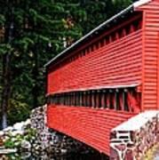 Historic Sach's Covered Bridge Art Print