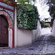 Historic Street At Albaycin In Granada' Art Print