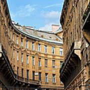 Historic Tenement Houses In Budapest Art Print