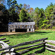 Historical Cantilever Barn At Cades Cove Tennessee Art Print by Kathy Clark