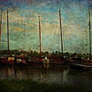 Historical Harbor Woudrichem The Netherlands Art Print