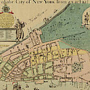 Historical Manhattan Map 1728 Art Print