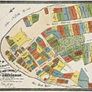 Historical Map Of Manhattan Art Print