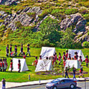Historical Reenactment Near Visitor's Center In Signal Hill National Historic Site In St. John's-nl Art Print