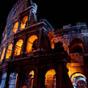 Historical Shapes In The Night Art Print