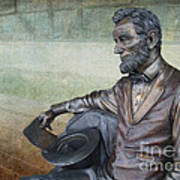 History - Abraham Lincoln Contemplates -  Luther Fine Art Art Print