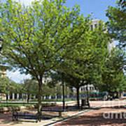 Lincoln Square Springfield Il - Luther Fine Art Art Print