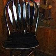 Hitchcock Chair In The Corner Art Print