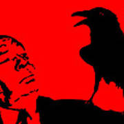 Hitchcock In Red Print by Jera Sky