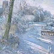 Hoar Frost Morning Art Print by Timothy  Easton