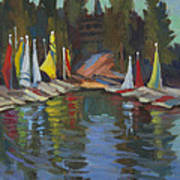 Hobie Cats At Lake Arrowhead Art Print