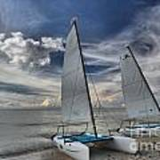 Hobie Cats On The Caribbean Art Print