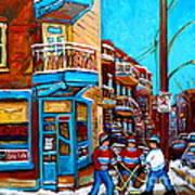 Hockey At Wilensky's Diner Art Print