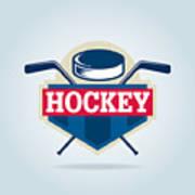 Hockey Logo,sport Art Print