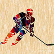Hockey Player Print by Marvin Blaine