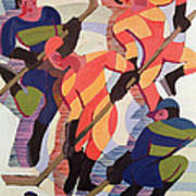 Hockey Players Art Print by Ernst Ludwig Kirchner