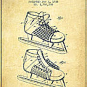 850b225e22616 Hockey Shoe Patent Drawing From 1935 - Vintage Canvas Print