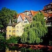 Hoelderlin Tower In Lovely Tuebingen Germany Art Print