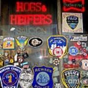 Hogs And Heifers Window Art Print