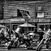 Hogs At The Tow Bar Inn - Old Forge New York Art Print