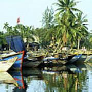 Hoi An Fishing Boats 01 Art Print