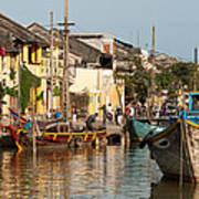 Hoi An Fishing Boats 02 Art Print