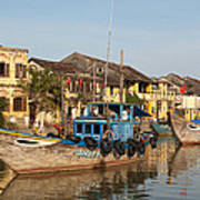 Hoi An Fishing Boats 03 Art Print