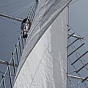 Hoisting The Mainsails Art Print