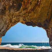 Hole In The Wall - Natural Tunnel In Santa Cruz Art Print