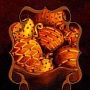 Holiday Citrus Bowl Iphone Case Art Print