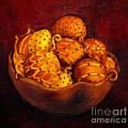 Holiday Citrus Bowl  Art Print