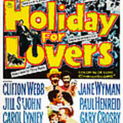 Holiday For Lovers, Us Poster Art Art Print