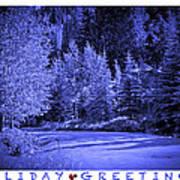 Holiday Greetings - Vail - Colorado Art Print