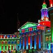 Holiday Lights 2012 Denver City And County Building C1 Art Print