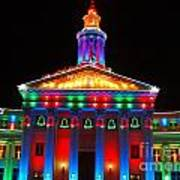 Holiday Lights 2012 Denver City And County Building D3 Art Print