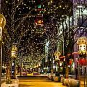 Holiday Lights In Denver Colorado Art Print