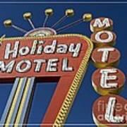 Holiday Motel Las Vegas Print by Edward Fielding