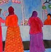 Holiday Shoppers On Prince Island Art Print