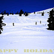 Holiday Skiers At Mt Hood  Oregon Art Print by Glenna McRae
