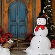 Holiday Snowman Art Print