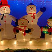 Holiday Snowmen 2 Art Print