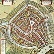 Holland: Gouda Plan, 1649 Art Print