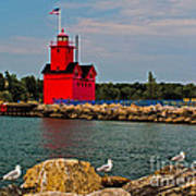 Holland Harbor Light Art Print