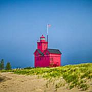 Holland Harbor Lighthouse Mi Art Print