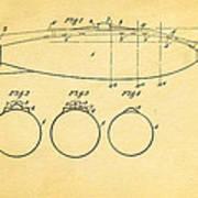 Holland Submarine Patent  Art 1902 Art Print
