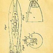 Holland Submarine Patent  Art 2 1902 Art Print