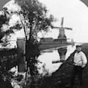 Holland Windmill, C1906 Art Print